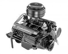 1949 Cadillac 331-cubic-inch V-8 engine.
