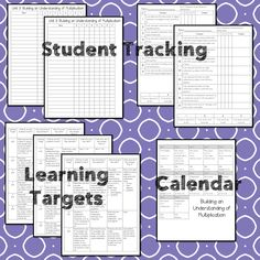 This #teaching unit provides 12 days of instruction Math Lesson Plans, Math Lessons, 3rd Grade Math Worksheets, Math Talk, Data Tracking, Learning Targets, Math Words, Student Data, Multiplication Facts