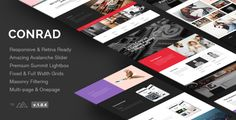 Conrad - Creative Multi-Purpose WordPress Theme by FastWP. Price $49
