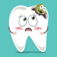 Bright Benefits Of Dental Implants Dental Facts, Dental Humor, Medical Dental, Dental Hygienist, Dental Implants, Dental Care, Dentist Cartoon, Tooth Cartoon, Dental World
