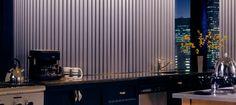 Hunter Douglas Vertical Window Treatments - Kitchen #Hunter_Douglas #Cadence #Soft_Vertical_Blinds #Vertical_Solutions #Crosswinds #Skyline #Gliding #Window_Panels #Somner #Window_Fashions #Window_Shadings #Window_Treatments #HunterDouglas #Accent_Window_Fashions
