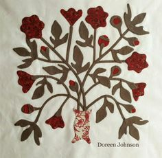 Shenandoah Valley Botanical Album Quilt. Virginia Quilt Museum - Sew Along