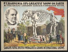 P.T. Barnum & Co.'s greatest show on earth & the great London circus combined with Sanger's Royal British menagerie & grand international shows