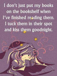Bedtime for books.
