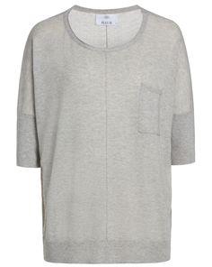Pullover mit kurzen Ärmeln - grau von ALLUDE bei WINNIS jetzt kaufen | kleidoo
