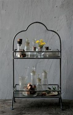 2-Tier Metal Tray | Wedding Treats | Afloral.com. Used for storage on vanity!