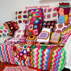 See crochet granny ripple.
