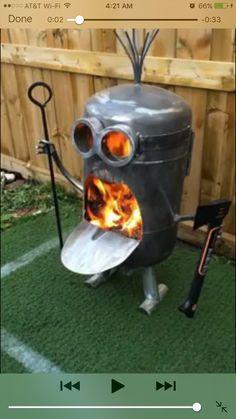 30 gallon propane tank minion fire pit
