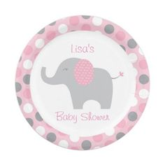 Pink Elephant Paper Plates 7 Inch Paper Plate