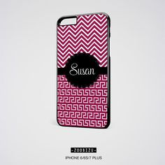 iPhone Case Personalized Custom Chevron Greek iPhone 6S Case Gift for Her iPhone 4 4s 5 5s 5c 7 6 plus SE Samsung Galaxy S4 S5 S6 Note 3 4 5 by zoobizu from zoobizu. Find it now at http://ift.tt/2e0swxz!