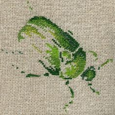 Cétoine Cross Stitch Needles, Cross Stitch Charts, Cross Stitch Designs, Cross Stitch Patterns, Simple Embroidery, Embroidery Applique, Cross Stitch Embroidery, Blackwork, Saint Aubin