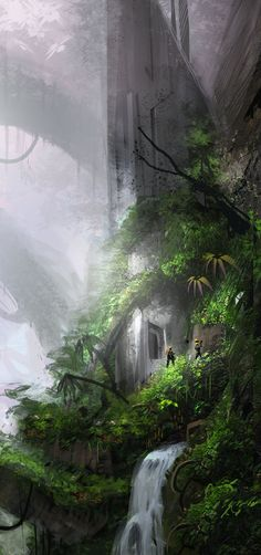 concept scene for infinity the game cosmolites finding a structure on an a supposedly uninhabited jungle planet. lots of fun (= thanks for watching! happy painting (= cosmolites © 2010 infinity the...