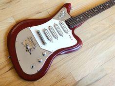Greco 912 1960s Red1960s Greco Model 912 Offset Four Pickup Vintage Guitar Japan Fujigen GE-4   Reverb