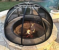 Steel Fire Pit Ring Stainless Spark Screen Custom Garden Items Wood Furniture Paint