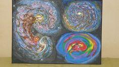 galaxie Antenna à gauche. en haut à droite,une galaxie semblable à la notre,en bas à droite une supernovaé.