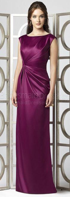 long purple bridesma