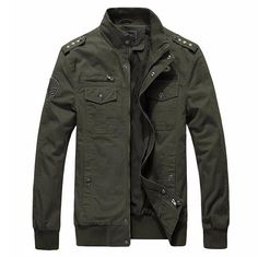 Military Soldier Jacket 68$  Trendy military style men's jacket. Material: cotton. Lining: polyester. Fabric type: broadcloth.  ✈ Free Worldwide Shipping ✈