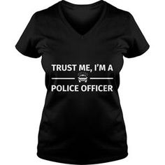 CHRISTMAS TRUST ME I AM A POLICE OFFICER TSHIRT VNECK
