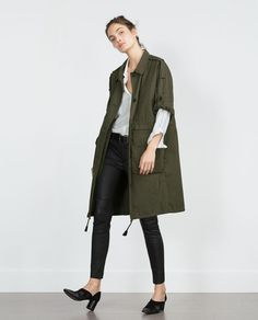 ZARA - WOMAN - PARKA WITH ROLL-UP SLEEVES