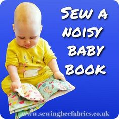 How to sew a noisy baby book - free tutorial by sewing bee fabrics