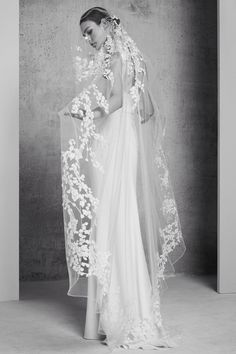 FOR THE BRIDE FROM THE RUNWAY    NOVELA BRIDE...Elie Saab 2018 sheer lace veil    Where the modern romantics play & plan the most stylish weddings... www.novelabride.com @novelabride #jointheclique