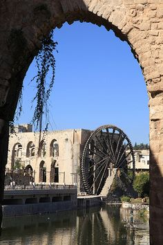 Noria Ancient Water Wheel Hamah Syria Middle East