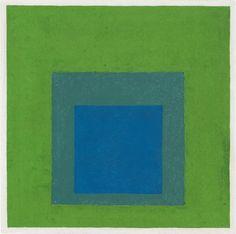 Josef Albers, 'Squares: Blue and Cobalt Green in Cadmium Green', 1958