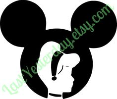 Cinderella Mickey Head DIGITAL DOWNLOAD svg jpg png - by LastYesterday on Etsy