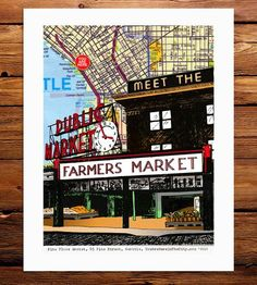 Pike Place Map Print