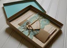 rustic boxed wedding invitations