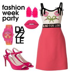 """""""Party Girl #8"""" by swatid ❤ liked on Polyvore featuring Gucci, Lime Crime, Monsoon, Humble Chic and GUESS"""