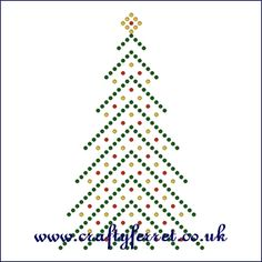 FREE Christmas tree beading on card prick and stitch pattern