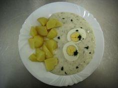 Domácí koprová / Home-made dill-sauce Dill Sauce, Czech Recipes, Stew, Czech Food, Cooking Recipes, Eggs, Homemade, Breakfast, Sauces