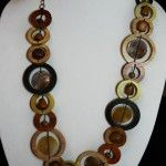 Long Wooden Circle Necklace