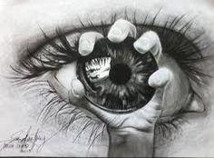 Výsledek obrázku pro drawings of creepy eyes