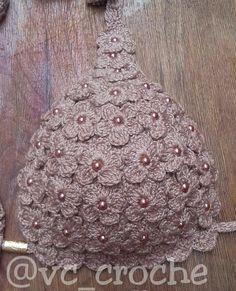 Crochet Blouse, Crochet Bikini, Crochet Top, Crochet Wedding Dresses, Bead Crochet Rope, Crochet Clothes, Christmas Bulbs, Projects To Try, Beads
