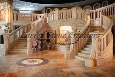 Stone staircases are functional and beautiful! Consider adding a staircase to your outdoor landscape or indoors. Click on the picture to learn more. #Staircase #Grand #Elegant #Home #Decor
