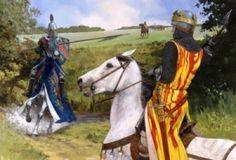 Henry de Bohun charging Robert the Bruce at Bannockburn