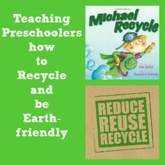 Help kids learn how to reduce, reuse and recycle at home, at school & in the community - book ideas too!