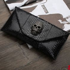Black snake  #skull #bag #clutch
