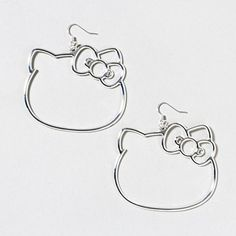 Hello Kitty Silhouette Drop Earrings | Claire's