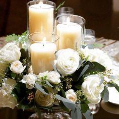 柔らかいオフホワイトの色合いに、グレー色の葉物を、実物を加えてデザインしています。 キャンドルには、アイボリーをチョイスして、清楚なイメージを表現しています。 テーブルフラワーの参考までに! #TheRitzCarltonTokyo #リッツカールトン東京 #ザリッツカールトン東京 #リッツカールトン東京ウエディング #ウエディング #Wedding #weddingflowers #coordinate #フラワー #フラワーデコレーション #フラワーコーディネート #flowers #tableflower #フラワーアレンジメント#flowerarrangement #flowerdesign #weddinginspiration #結婚式 #披露宴 #空間装飾 #日本中のプレ花嫁さんと繋がりたい #プレ花嫁 #参考 Table Decorations, Wedding, Furniture, Home Decor, Valentines Day Weddings, Decoration Home, Room Decor, Home Furnishings, Weddings