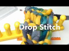 Loom Knit Drop Stitch Infinity Scarf | Zippy loom - YouTube