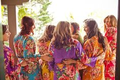 Real life Sample 3 - Bridesmaids Robes made From D7 Fabric Pattern
