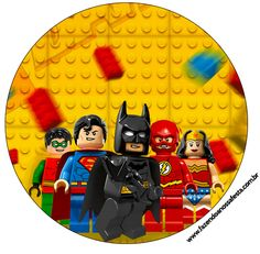 Rótulo Latinha, Tubetes e Toppers Batman Lego Super Heroes: