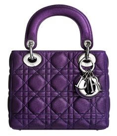Purple Lady Dior bag, lordy lordy would love to have this some day Dior Purses, Dior Handbags, Designer Handbags, Designer Purses, Burberry Handbags, Purple Purse, Purple Bags, Sac Lady Dior, Louis Vuitton Artsy Mm