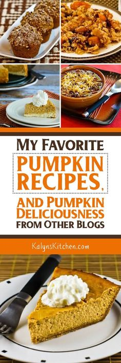 Here are all My Favorite (healthier) Pumpkin Recipes, plus links for 150+ Pumpkin Recipes from Other Blogs! [found on KalynsKitchen.com]