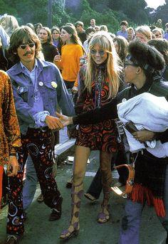 George Harrison and Pattie Boyd-Harrison #dressmaking #calicolaine