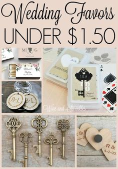 Cheap and Unique Wedding Favors Under $1.50 #wedding #favors #budgetwedding Handmade Wedding Favours, Edible Wedding Favors, Wedding Favors For Guests, Personalized Wedding Favors, Wedding Gifts, Diy Wedding, Wedding Souvenir, Wedding Ideas, Wedding Vows