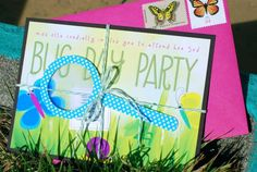 via brightlydesigned.com. Butterfly & bug party. very cute. perfect idea for Hazel